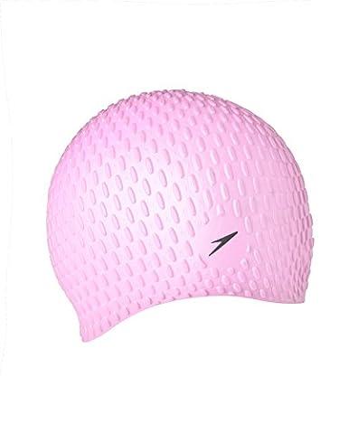 Speedo Bubble Cap Xu Bonnet de bain, bleu/rose, Taille unique