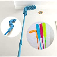 ZINQUI Foldable Microfiber Fan Cleaning Duster Brush with Extendable Rod for Home, Kitchen, Car, Ceiling, Dust Cleaner…