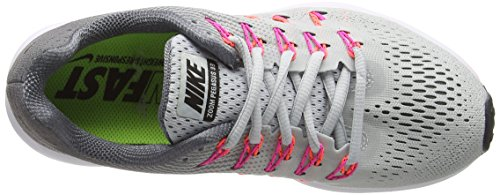 Nike Air Zoom Pegasus 33, Chaussures de Running Compétition Femme Argent - Plateado (Pr Pltnm / Blk-Cl Gry-Pnk Blst)