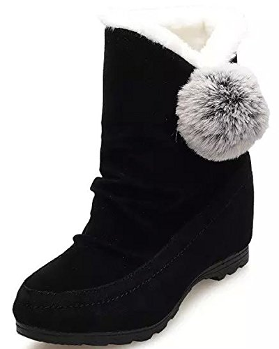 Minetom Femmes Filles Hiver Chaud Bottes De Neige Anti Slip Suède Cuir Chaussures Boots Classique Court Bottes