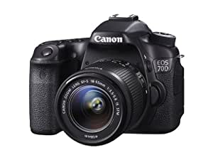 Canon EOS 70D Camera (20.2 MP, 18-55 mm IS STM Lens, 3.0 inch LCD) - Black
