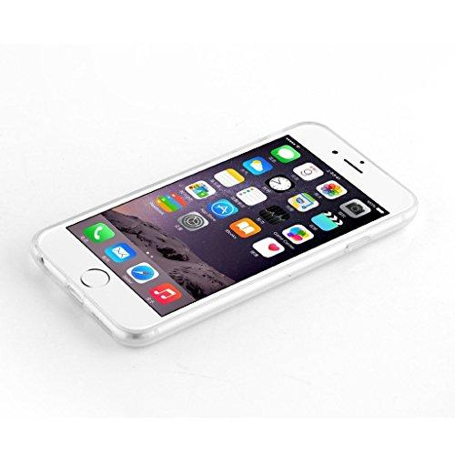 iPhone 6 Plus Hülle, iPhone 6S Plus Schutzhülle, Hamyi Niedlich Schön Haustier Hunde und Seine Näpfe Muster Dünn Schlank Transparentes Weichem TPU Silikon Schalen für iPhone 6 Plus und iPhone 6S Plus  Bösewicht kämpfen