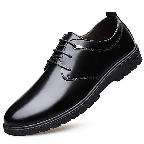 XIAOLIN- Chaussures De Marée Nouveau Hommes Angleterre Affaires Robe Noir Chaussures En Cuir