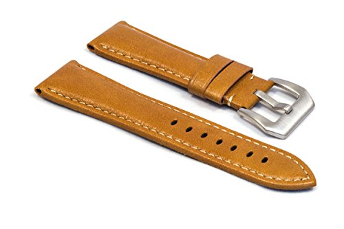watchassassin-padded-tan-brown-leather-watch-strap-24mm