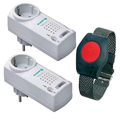 notruf / Senioren-Hausalarm / Senioren-Sicherheitspaket 5 - (mit Funk-Armbandsender und zwei Steckdosen-Empfängern mit Quittierungsfunktion) ()