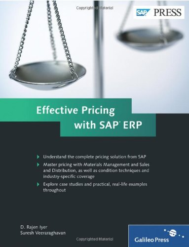 Effective Pricing with SAP ERP by D. Rajen Iyer (30-Aug-2011) Hardcover