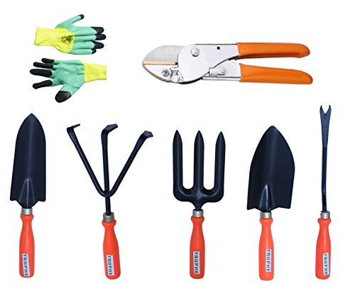 Truphe Gardening Tools Set With Pruner And Safety Hand Gloves (Made In India)