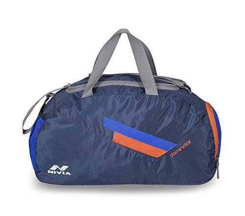 Nivia 5184-M Dominator Polyester Duffle Bag, Medium (Royal Blue)