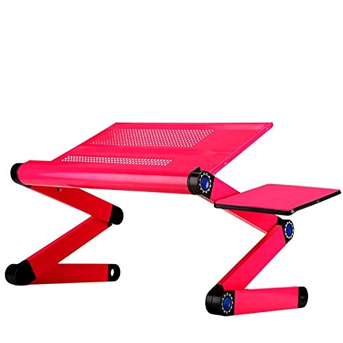 Whhwyd scrittoio per computer da scrivania con computer pieghevole in alluminio con tavoletta per computer in piedi,rosso