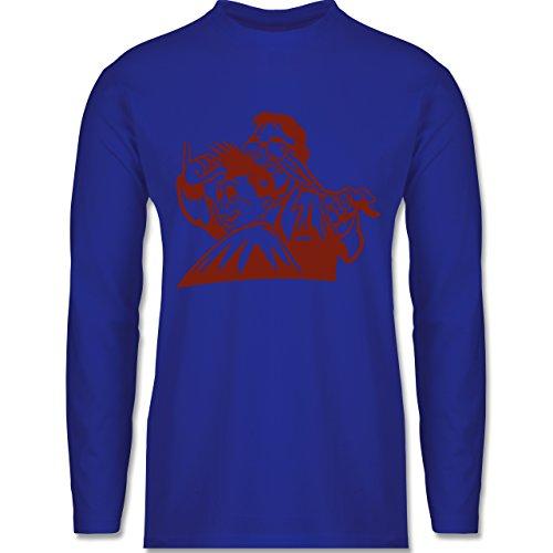 Handwerk - Friseur - Longsleeve / langärmeliges T-Shirt für Herren Royalblau