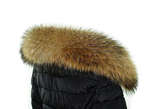 Damen Pelzkragen Kapuze Waschbär Fuchs Pelzkragen Kunstfell Stola Winter Warm 19