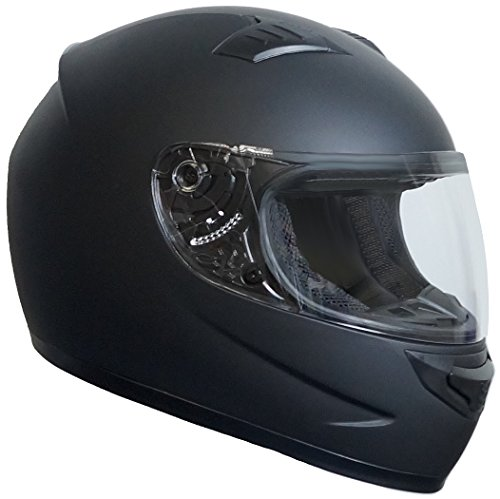 Integralhelm Helm Motorradhelm RALLOX 508 schwarz matt (S, M, L, XL) Größe S