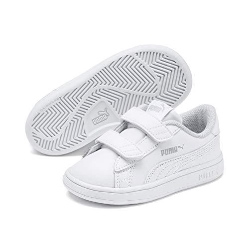 Puma Unisex Baby Smash v2 L V Inf Sneaker, Weiß (Puma White-Puma White 02), 26 EU (Mädchen Puma Schuhe Größe 3)