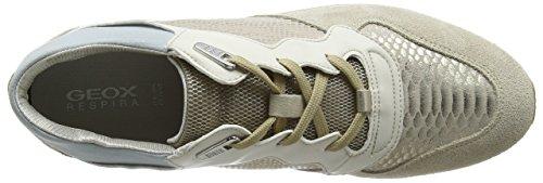 Geox Damen D Shahira B Sneaker Beige (Lt Taupe/Lt Gold)