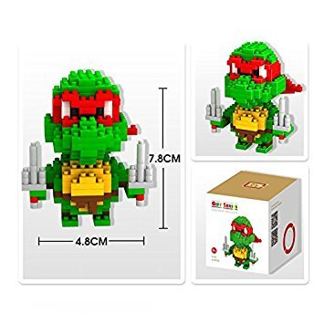 Figures-Pokemon-TMNT-Superheroes-Building-Block-Mini-figures-Teenage-Mutant-Ninja-Turtles-PVC-57cm-Boxed-Manual-worker-By-channeltoys-RAPHAELLO
