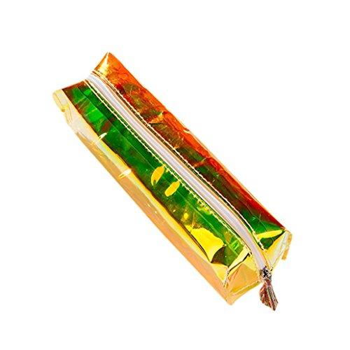 Ouneed® Swag Trousse Zippe Pochette Ecolier de Maquillage 16 * 11 * 6CM (Jaune)