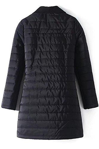 Le Donne Inverno Casual Risvolto Chiudi Con Giacca Cappotto Gli Indumenti Esterni Black