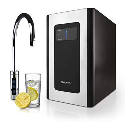 smardy blue Soda & Cool Wassersprudler mit Ultrafiltration und Aktivkohleblockfilter für stilles, gekühltes, spritziges Sprudelwasser