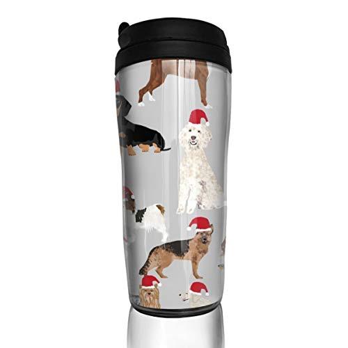 16742 Kaffeetasse mit Weihnachtsmann-Motiv und süßem Weihnachtsmann, 340 ml, auslaufsicher, mit Klappdeckel, umweltfreundliches Material ABS - Hitze, Eis, Wrap