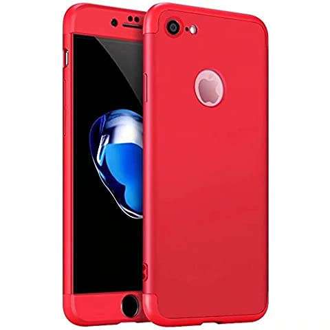 iPhone 7 Plus Case,iPhone 7 Plus cover TXLING 360 Degree Protection 3 in 1 Slim Cover Shockproof Shell Full Body Coverage Protection Case For iPhone 7 Plus 5.5 - red