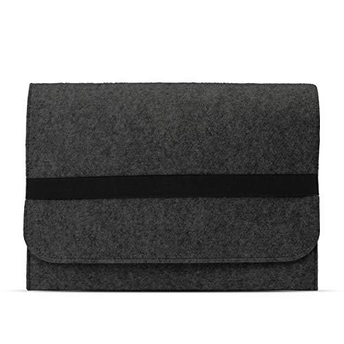 eFabrik Schutzhülle für Acer Travelmate Spin B1 Tasche aus Filz 11,6 Zoll Filztasche Case Sleeve Soft Cover Schutztasche Sleeve, Farbe:Dunkelgrau Soft Sleeve Tasche