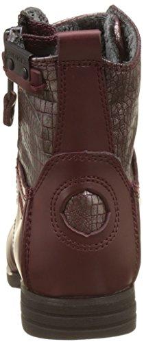 BUNKER Damen Zip Biker Boots Rouge (Burdeos)