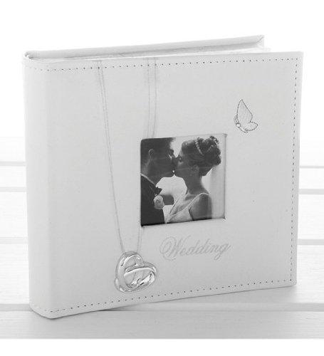 Hochzeitsfotoalbum mit Eheringen und Schmetterling, Hochzeitsgeschenk