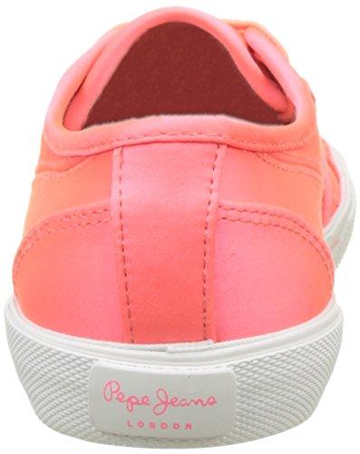 Pepe Jeans London Aberlady Satin, Scarpe da Ginnastica Basse Donna Rosa (Hot Pink)