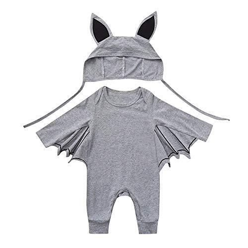 Rokoy costume da vampira pipistrello, bambina e ragazza, travestimenti halloween carnevale,mantello da pipistrello,costumi per feste di halloween(100 24mesi,grigio)
