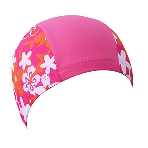 Kinder Badekappe, Kinder Schwimmen Hut für Haarpflege und Gehörschutz Atmungsaktiv