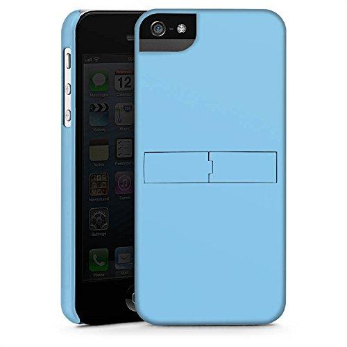 Apple iPhone X Silikon Hülle Case Schutzhülle Eisblau Blau Blue Premium Case StandUp