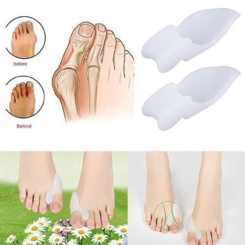 2 pcs Silicone Gel Foot Pad Fingers Two Hole Toe Separator Thumb Valgus Protective Bunion Adjuster Hallux Valgus Guard preisvergleich