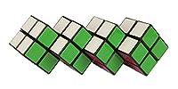 Saurez-vous remettre les couleurs identiques sur la même face ? Amusez-vous à faire et défaire ce casse tête composé de 4 cubes assemblés. Dimensions du produit (L x l x h) : 25 x 14 x 12 cm.