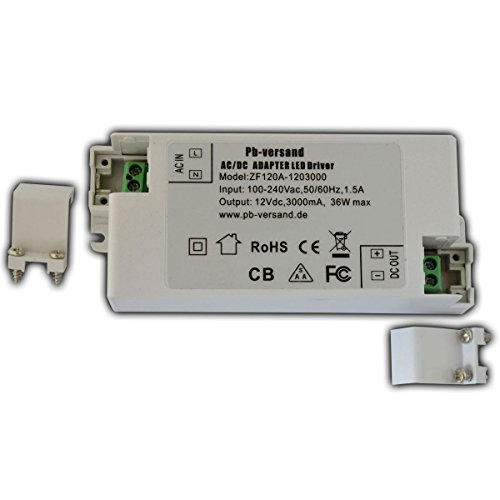 Preisvergleich Produktbild LED Leuchmittel Trafo 12V DC 36 Watt Netzteil Treiber G4 Transformator