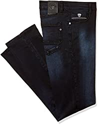 John Players Mens relaxed Jeans (8907349012973_ZCMWJNA160037_36W x 36L_Jet Black)