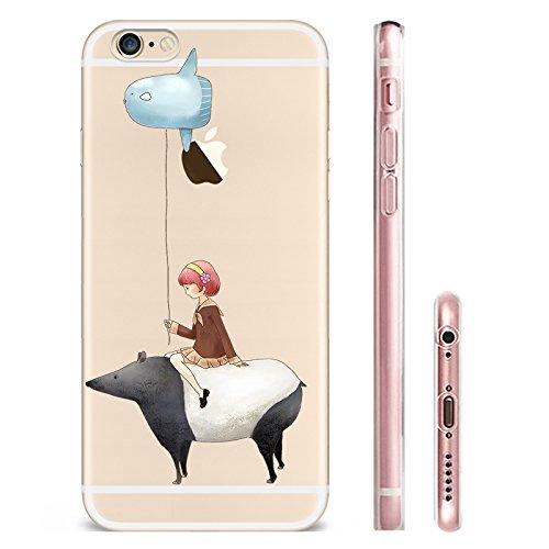 IPHONE SE 5 5S Hülle Weich Silikon TPU Schutzhülle Ultradünnen Case für iPhone 5 /5S/SE Schutz Hülle Ballon-Mädchen