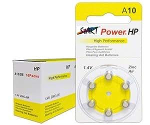 Start Power–60piles auditives–Typ A10–1,45V–100mAh–PR70