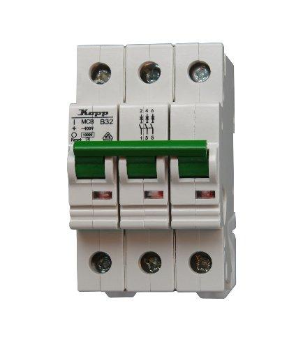 Ge Electric Circuit Breaker (Kopp 723230005 Green Electric Leitungsschutzschalter (MCB) 3-polig, 32 A)