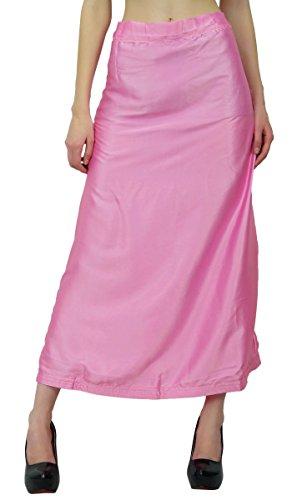 Indian Silk Satin Petticoat Bollywood Solide Inskirt Futter für Sari Frauen Kleidung Rosa