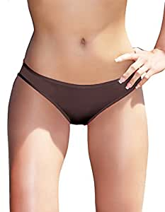 Seductive & Playful Black Strappy Ribbon Open Rear Panties With Central Satin Bow S/M UK 6-10)