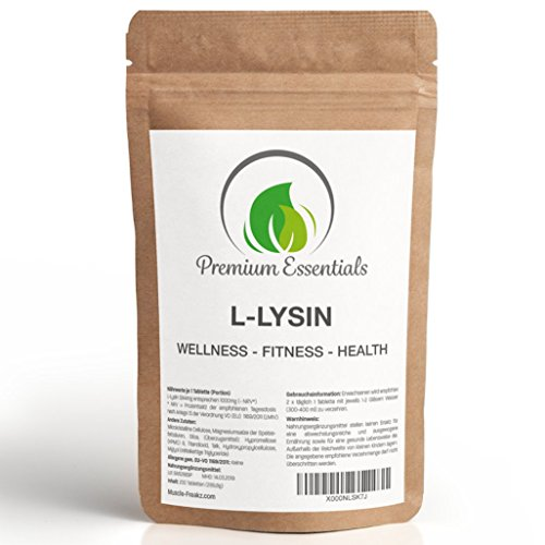 L-Lysin, 200 Tabletten (vegan) á 1000mg, in GMP / ISO 9001 Premium Qualität