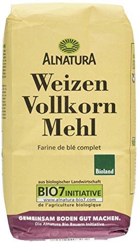Alnatura Bio Mehl Weizen-Vollkorn, 1.00 kg (Bio-vollkorn-mehl)