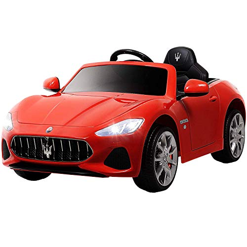 UEnjoy 12V Kinderauto Maserati Grancabrio Elektronik Kinderauto Fahrt auf Auto mit Fernbedienung, Federung, MP3-Player, Beleuchtung, Rot