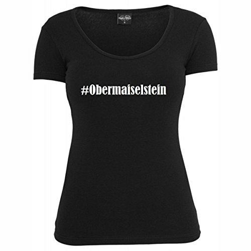 T-Shirt #Obermaiselstein Hashtag Raute für Damen Herren und Kinder ... in den Farben Schwarz und Weiss Schwarz