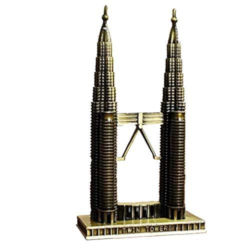 Vintage Figurine in New York Zwillinge Gebäude Souvenirs Plating Feine Heim Tabelle Desktop-Tourist Geschenk Twin Towers Modell Metall-Handwerk