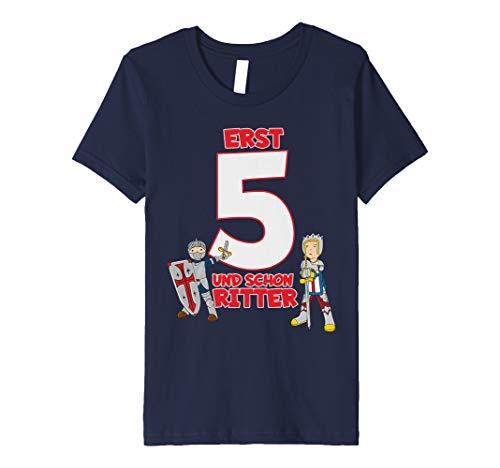 Kinder T-Shirt Geburtstag 5 Jahre Junge Ritter Motiv Kostüm