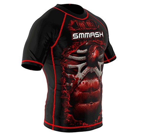 SMMASH Rashguard BLOOD 3.0 Kurzarm MMA BJJ UFC Kampfsport Abbildung 2