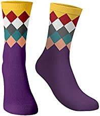 The souled store Cotton and Printed mens womens, Boys and girls Purple Diamonds Socks