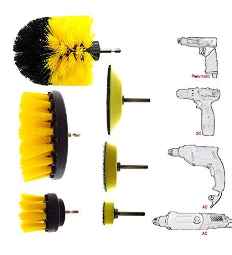 YUDEYU 6 Stück Auto Detaillierung Pinsel Set Natürliches Eberhaar Autowaschbürste Kit Für (Farbe : Gelb) - Detaillierung Innenraum Auto