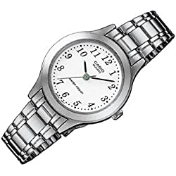Casio Reloj Analógico de Cuarzo para Mujer con Correa de Acero Inoxidable – LTP-1128PA-7B